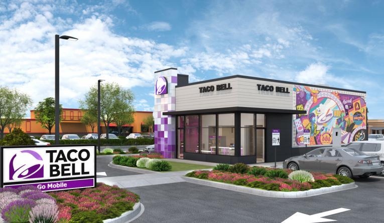Taco Bell drive-thru mockup.