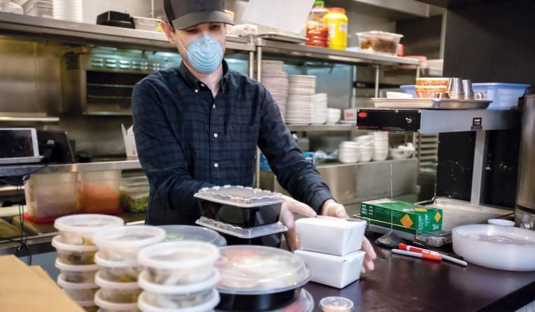 Preparing to go orders