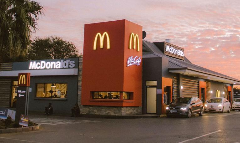 Exterior of a McDonald's.