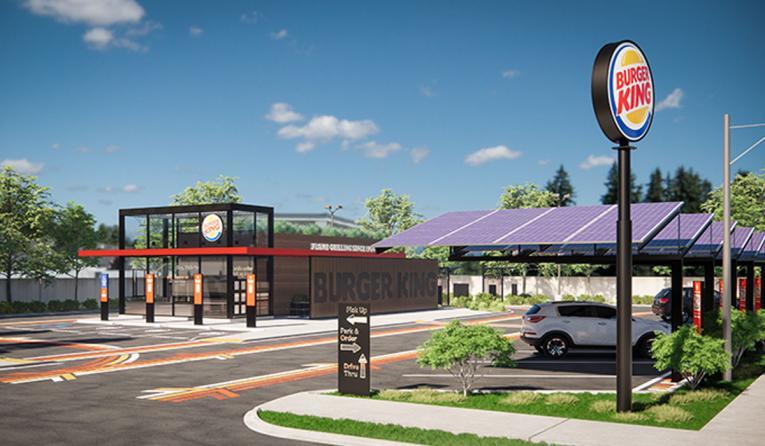 Burger King restaurant of the future rendering.
