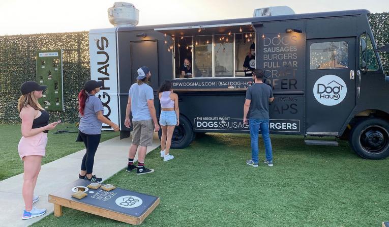 Dog Haus food truck.