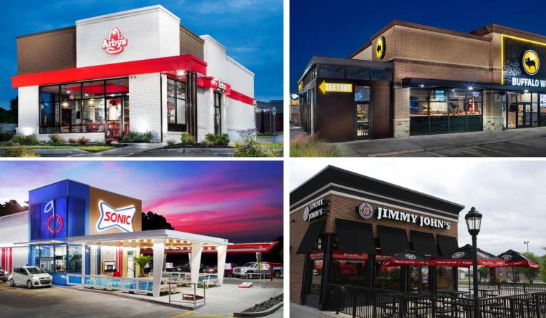 Inspire Brands' Sonic Drive-In, Buffalo Wild Wings, Arby's, and Jimmy John's.