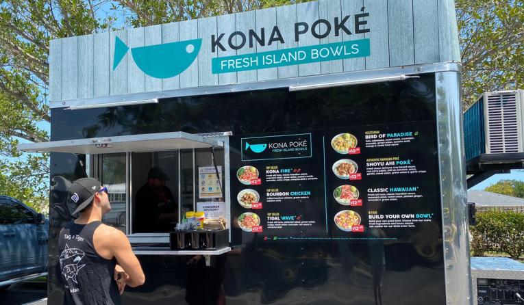 Kona Poké Express food truck.