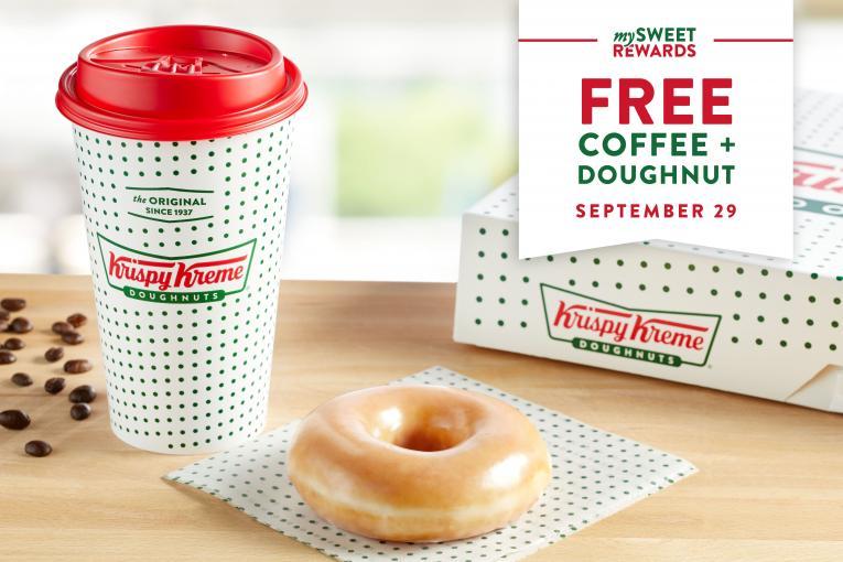 Krispy Kreme Offering Free Coffee and Doughnut on National ...