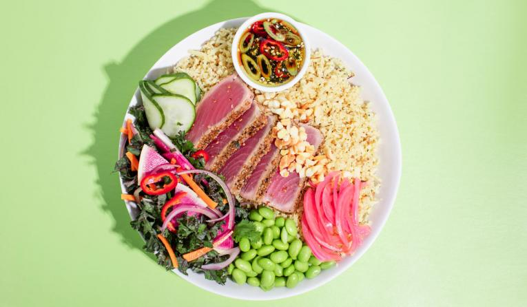 Seared Ahi Tuna Bowl.