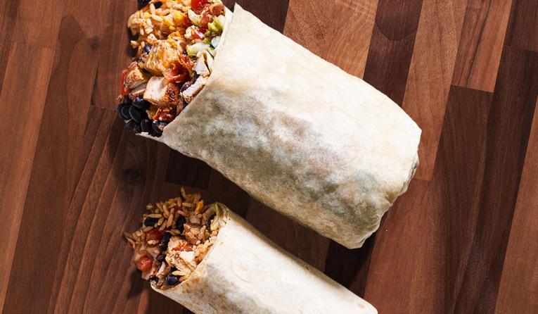 Moe's Southwest Grill Grande Homewrecker burrito.