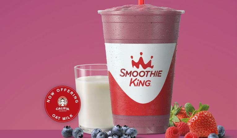 Smoothie King Vegan Mixed Berry Smoothie.