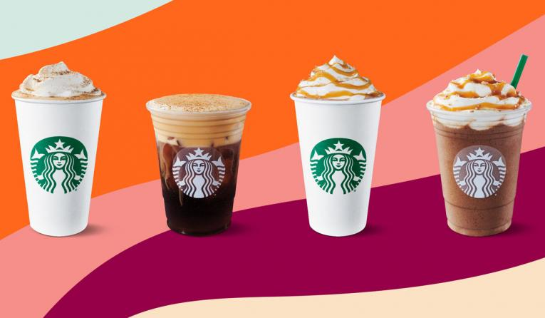 Starbucks' fall lineup of beverages.