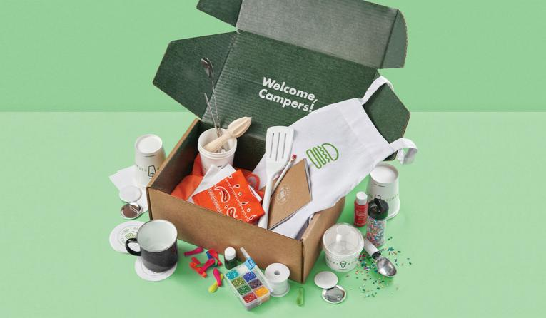 "Shake Shack's ""Shack Camp"" box"