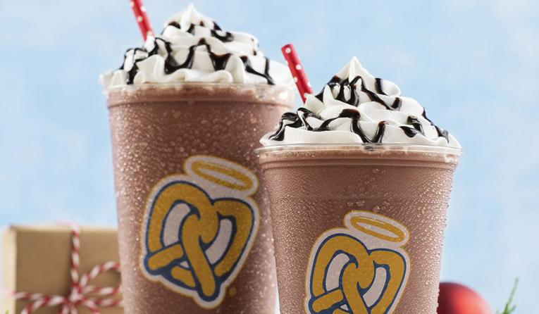 Auntie Anne's Hot Chocolate Frost.