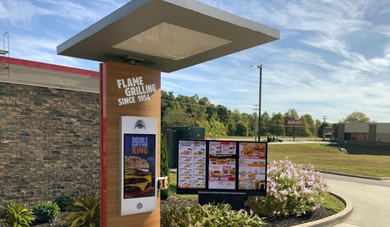 Burger King drive thru.