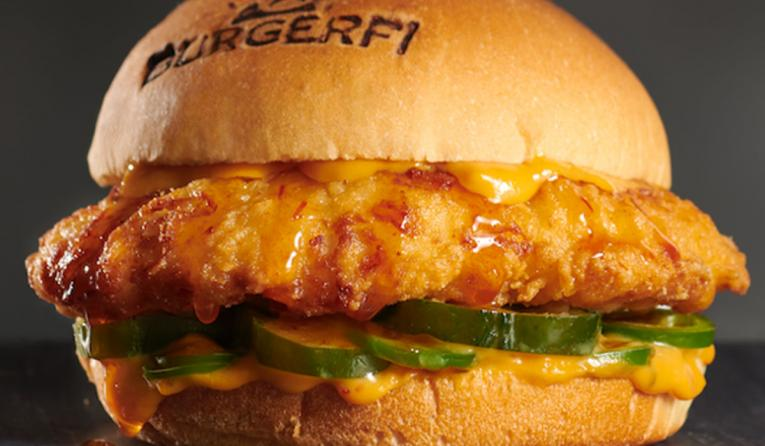 BurgerFi chicken sandwich.