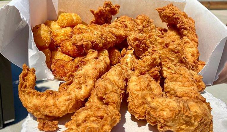 Cream City Cluckery chicken tenders.