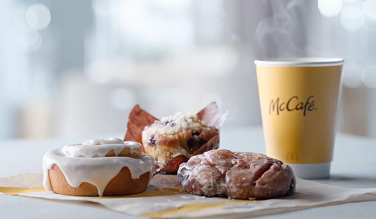 McDonald's breakfast lineup of bakery items.