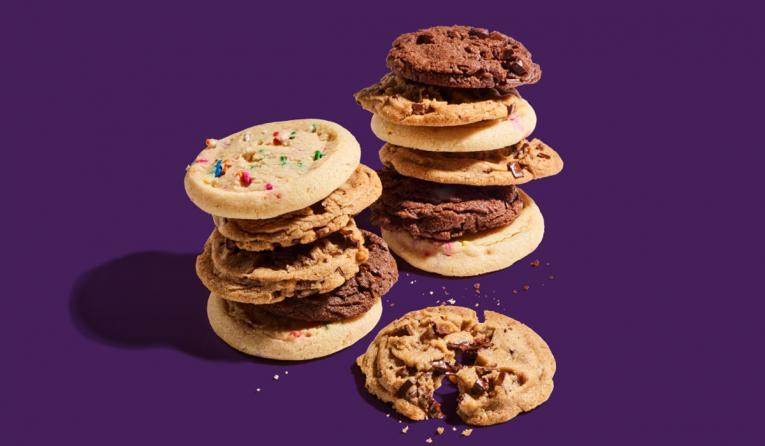 Insomnia Cookies vegan cookies.