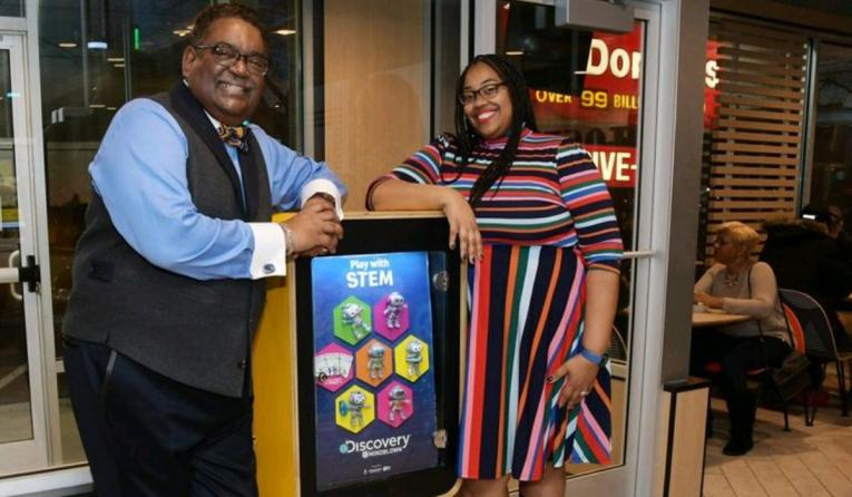 McDonald's franchisees John A. Dawkins and his daughter, Danielle Dawkins-Alston.