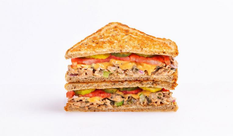 Veggie Grill plant-based tuna melt.