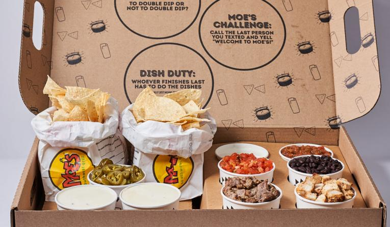 Moe's Southwest Grill nacho kit.