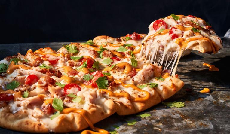 Chipotle Chicken & Bacon pizza at Panera Bread.