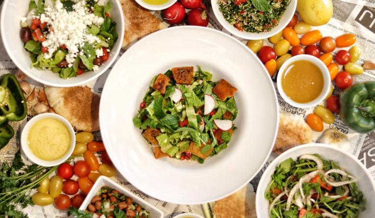 SAJJ Mediterranean salad.