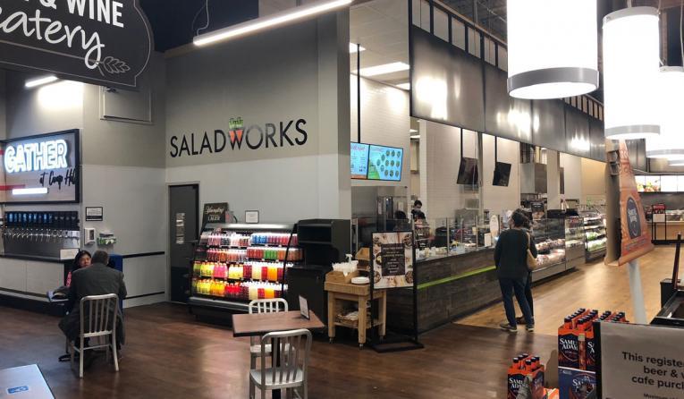 Saladworks interior of restaurant.