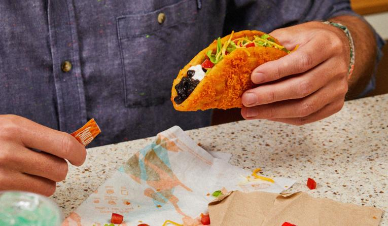 Taco Bell Toasted Cheddar Chalupa.