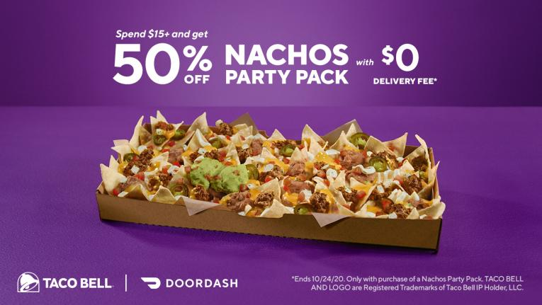 DoorDash and Taco Bell graphic.