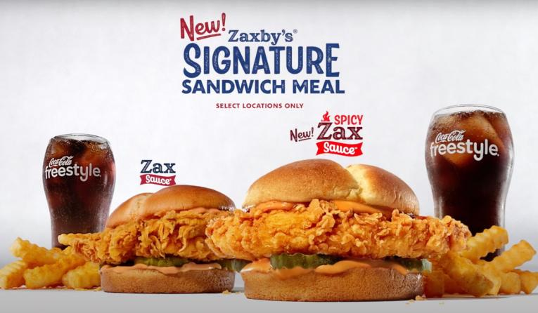 Zaxby's Signature Chicken Sandwich ad.