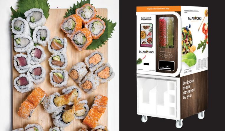 MakiMaki leverages robots, Saladworks automated vending machine