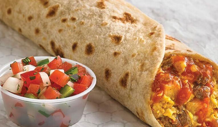 Laredo Taco Company burrito.