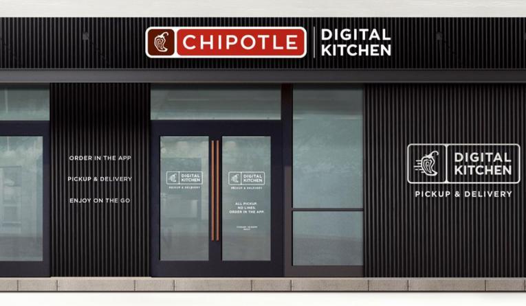 Chipotle digital-only restaurant rendering.