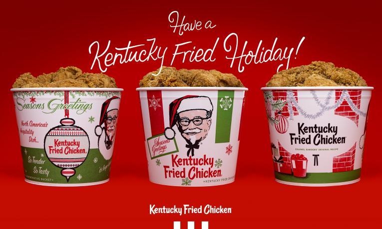KFC holiday buckets graphic.