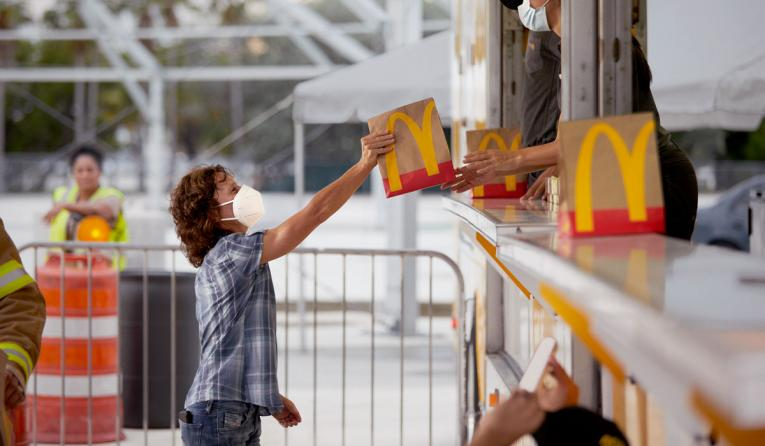 McDonald's still from a commercial.