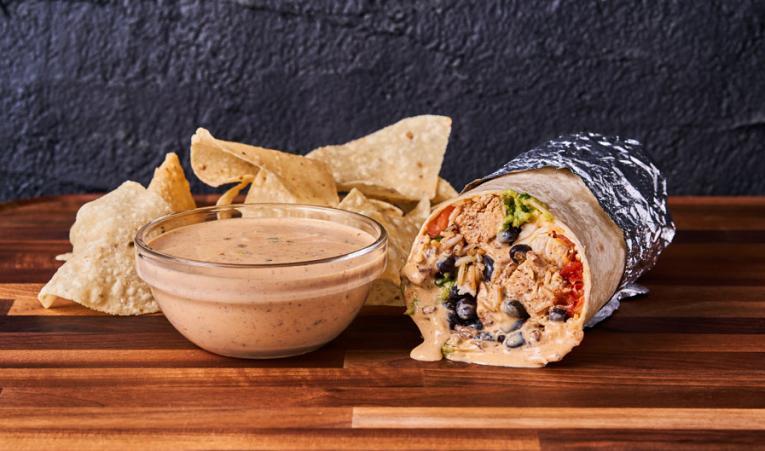 Moe's Southwest Grill burrito.