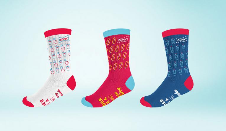 Each pair features an iconic Sonic favorite.
