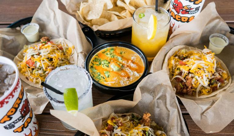 Torchy's Tacos platter of food.