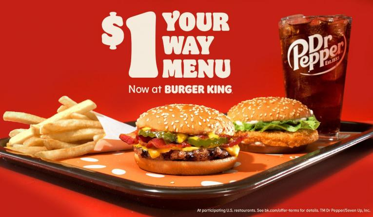 Burger King $1 menu.