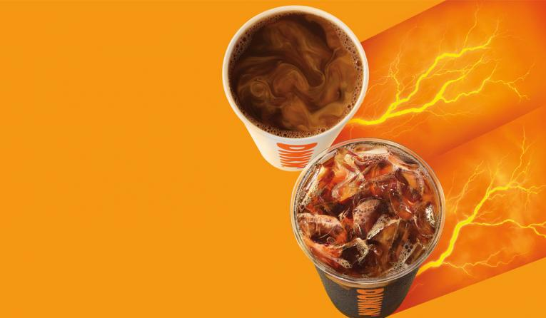 Dunkin' Extra Charged Coffee.
