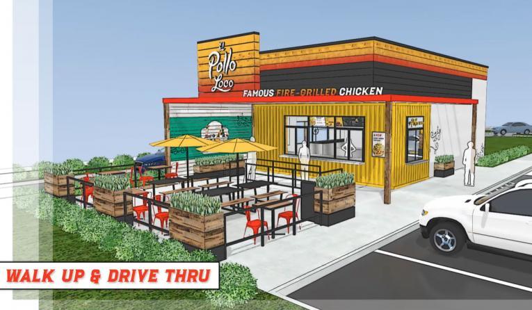 El Pollo Loco rendering of new restaurant.