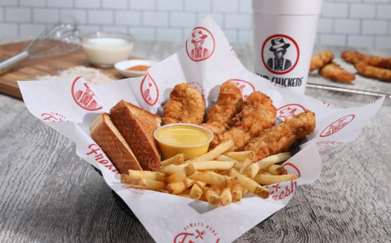 Slim Chickens chicken finger basket.
