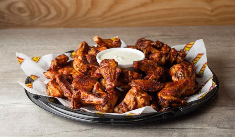 Chick N Max wings platter.