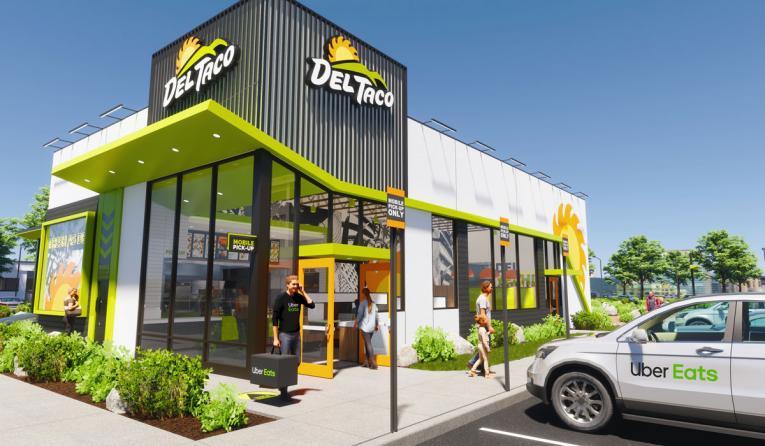 Del Taco restaurant prototype.