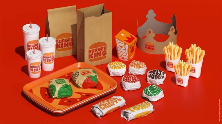 Burger King packaging.