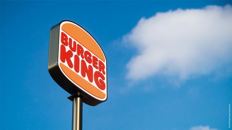 Burger King sign.