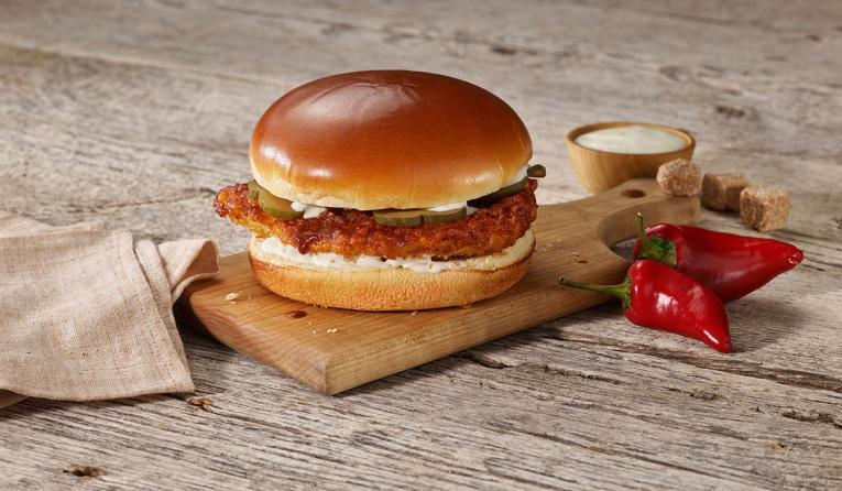 Boston Market Nashville Hot Crispy Chicken Sandwich.