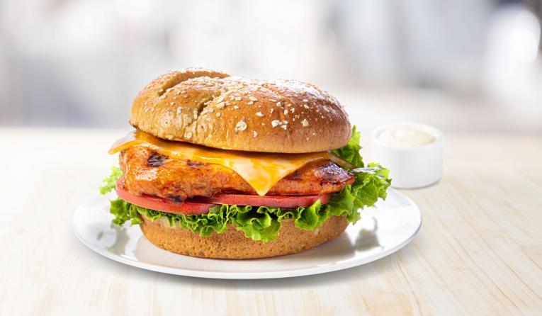 Chick-fil-A Spicy Chicken Deluxe Sandwich.