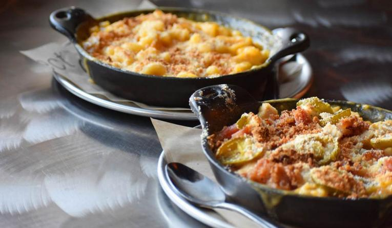Fired Pie mac 'n cheese dishes.