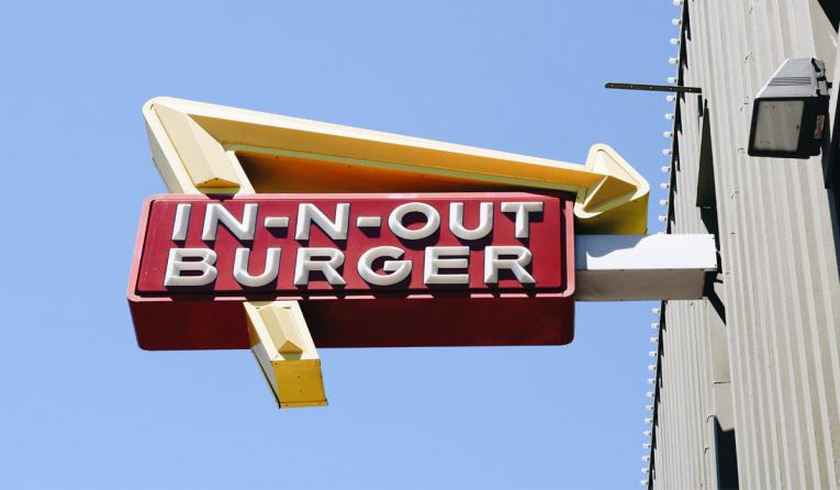In-N-Out Burger sign.