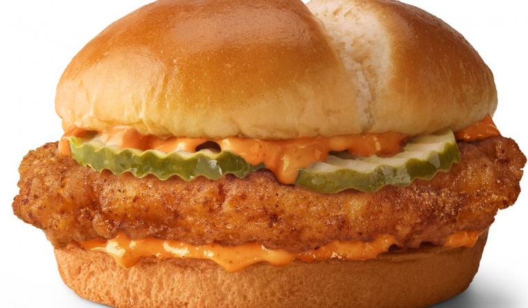 McDonald's spicy chicken sandwich.