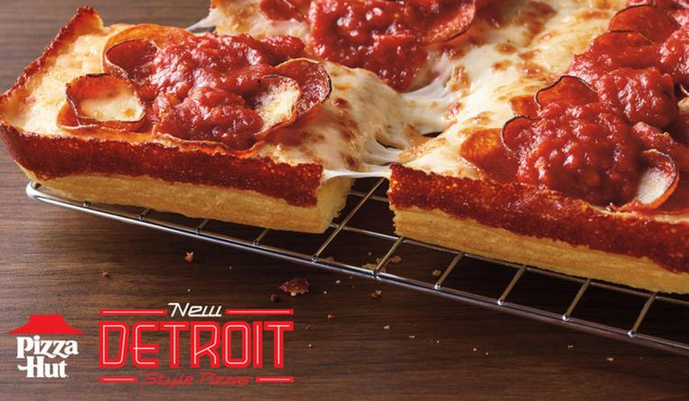 Pizza Hut's Detroit-Style Pizza.